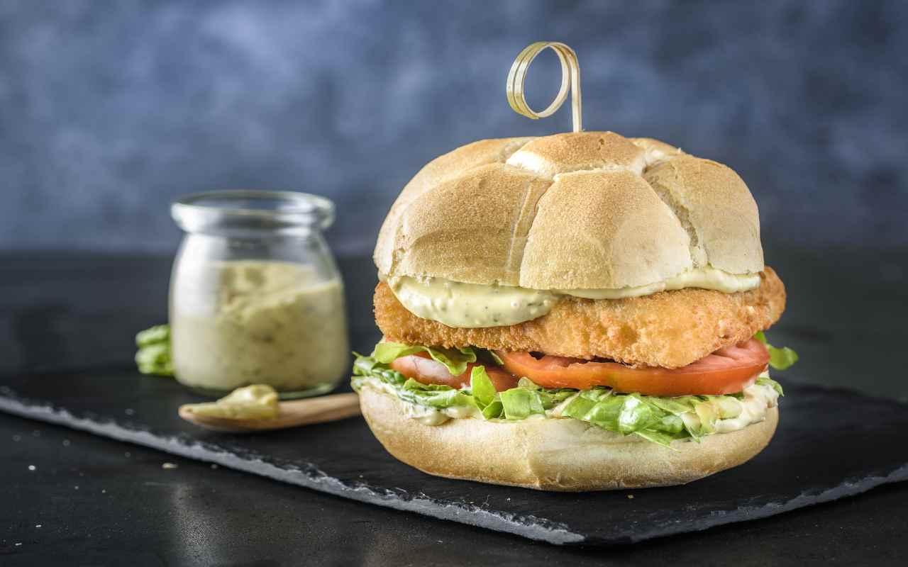 hamburger nasello ricetta FOTO ricettasprint