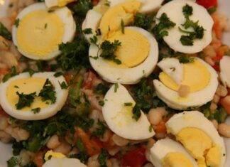 Fagioli e uova all'insalata