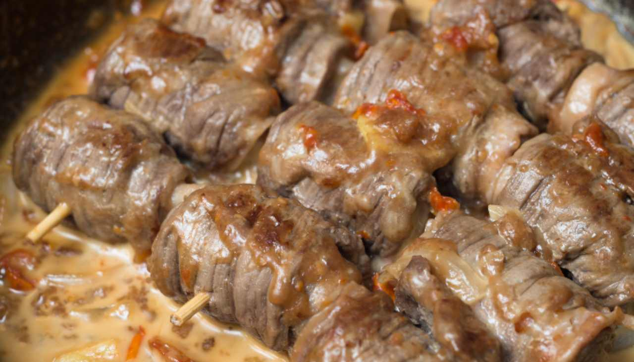 Secondo di carne ripiena e cotta in padella