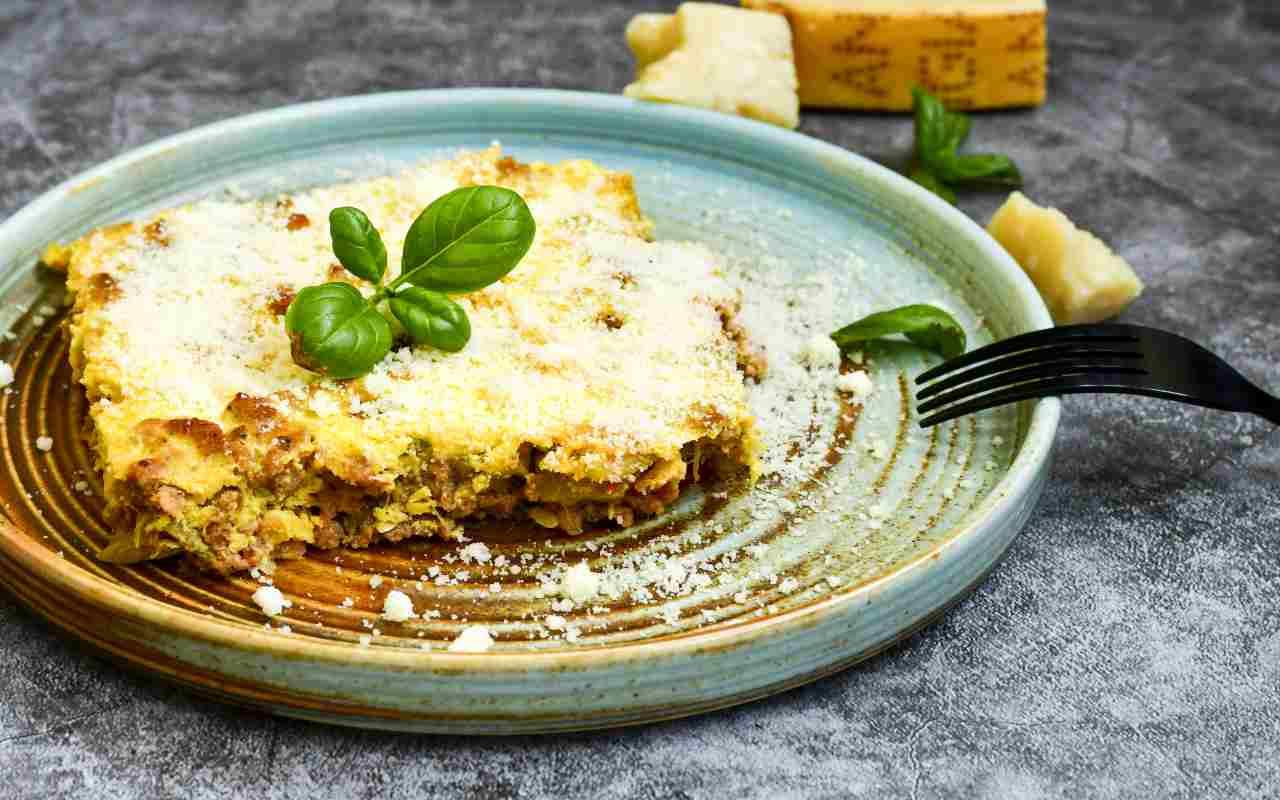 lasagna bianca prosciutto zucchine ricetta FOTO ricettasprint