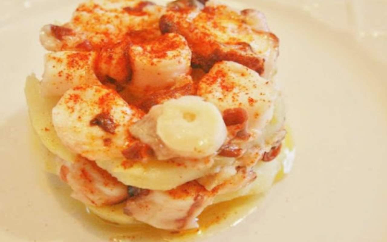 millefoglie polpo patate ricetta FOTO ricettasprint