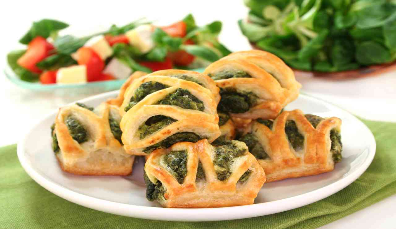 Morsetti di spinaci e polpettine