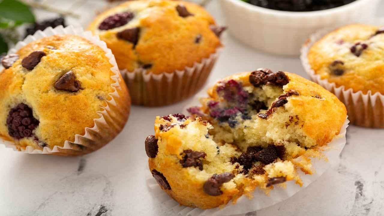 Muffin ai frutti di bosco