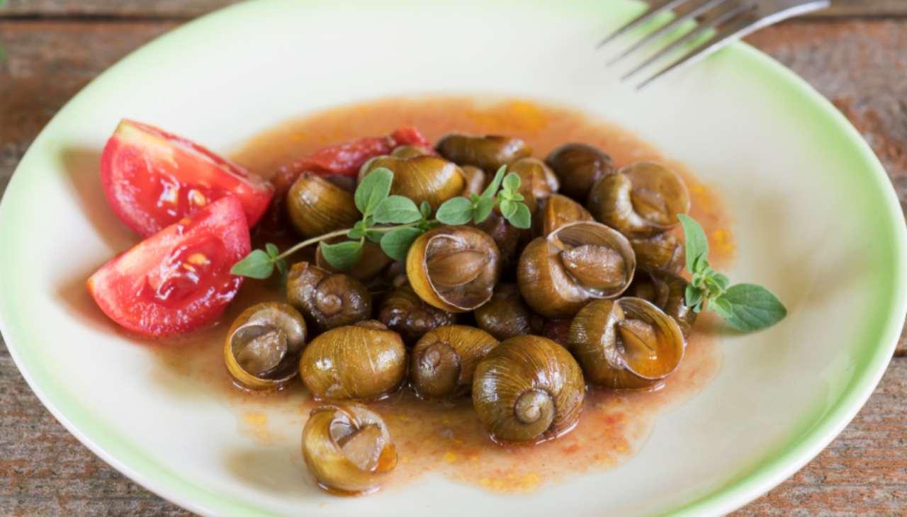 Finger food di lumache di campagna