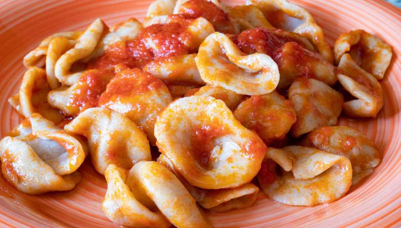 Piatto di pasta tipico nostrano