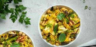pasta fredda curcuma ricetta FOTO ricettasprint