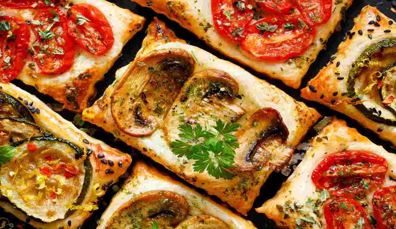 Pizzette flash con mix di verdure
