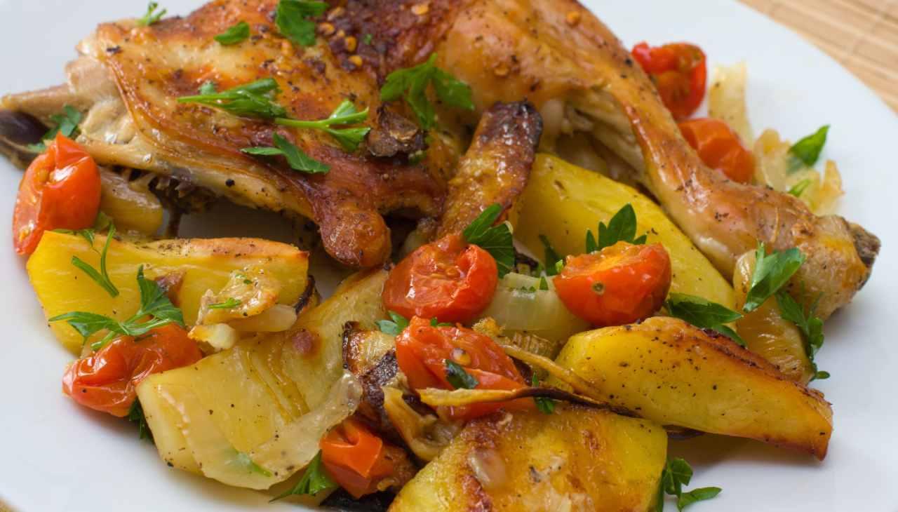 Secondo di carne bianca con verdure tipico nostrano