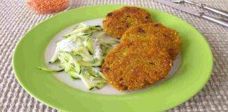 Polpette vegetariane di lenticchie rosse e zucchine