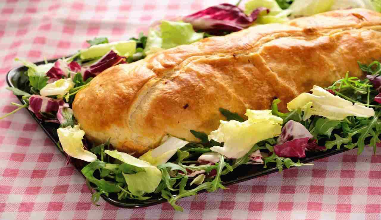 Polpettone in crosta con pesto di pistacchio e mozzarella