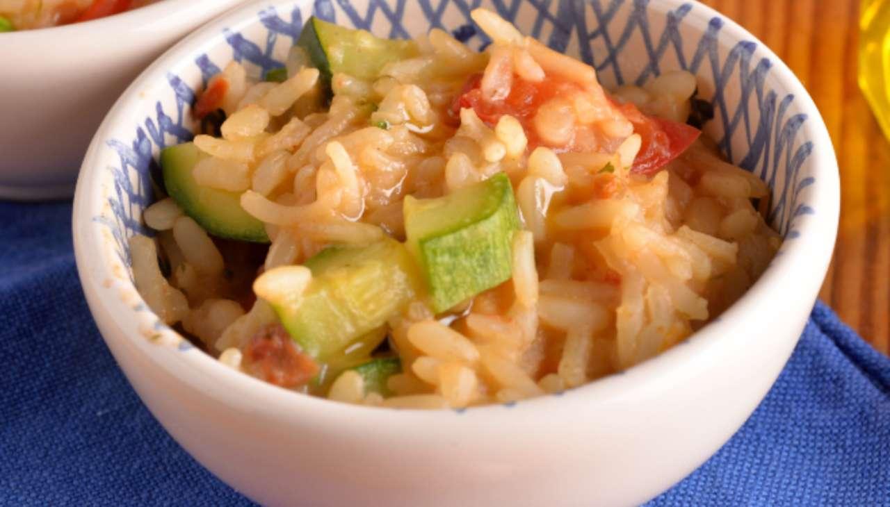 Primo di riso con verdura