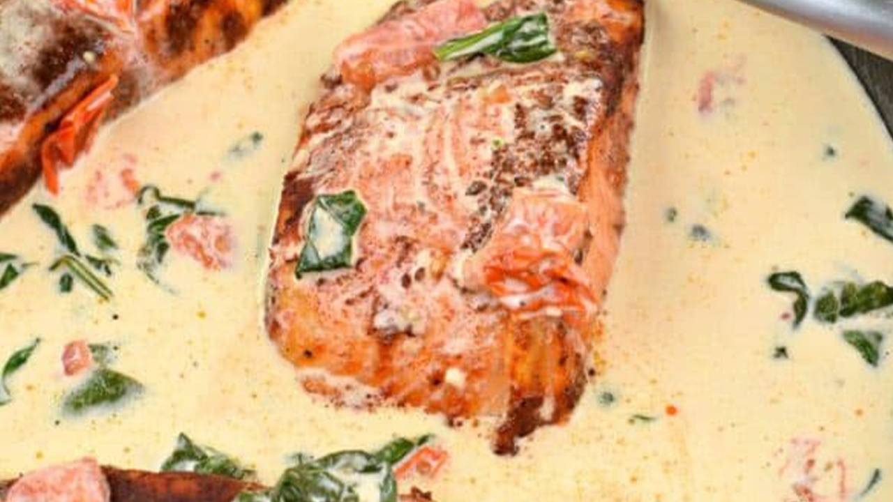 Crema di asparagi e pesce