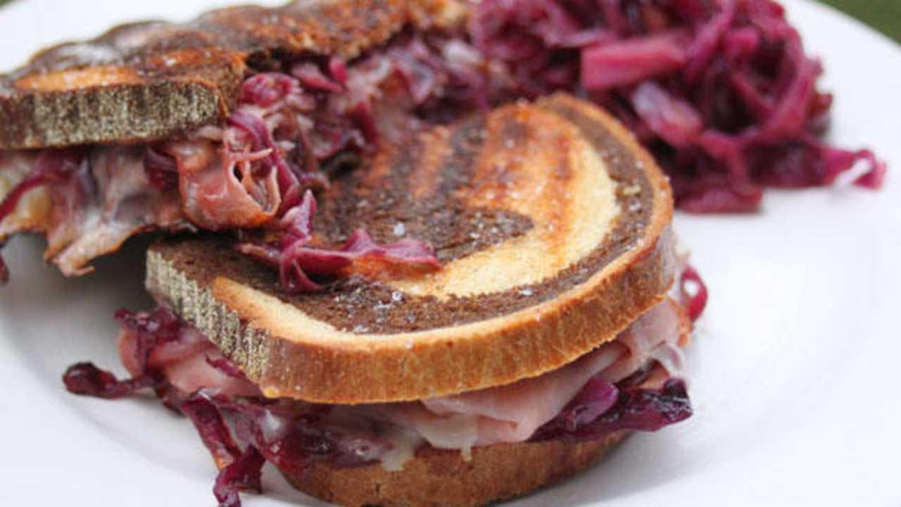 sandwich cavolo rosso prosciutto ricetta FOTo ricettasprint