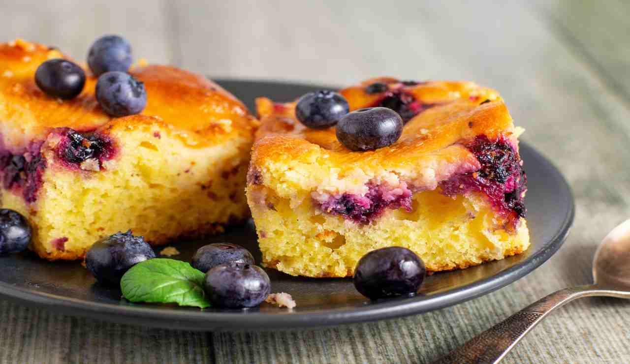Torta favolosa ai mirtilli