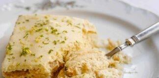 Torta fredda biscotti e limone