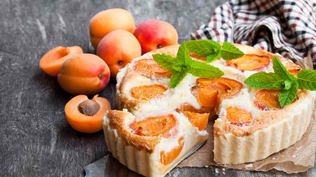 Torta fredda con albicocche