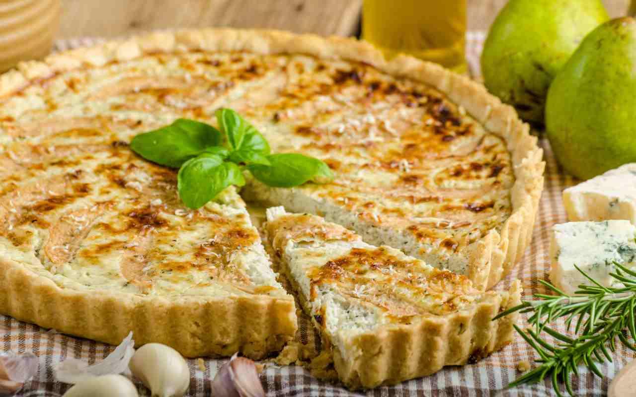 torta porro pere gorgonzola ricetta FOTO ricettasprint