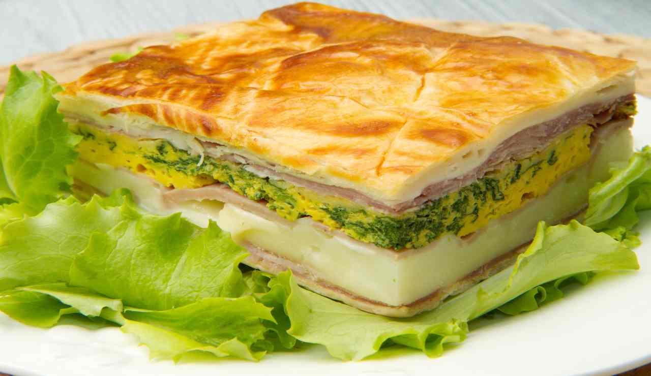 Torta salata Valdostana con un tocco sprint