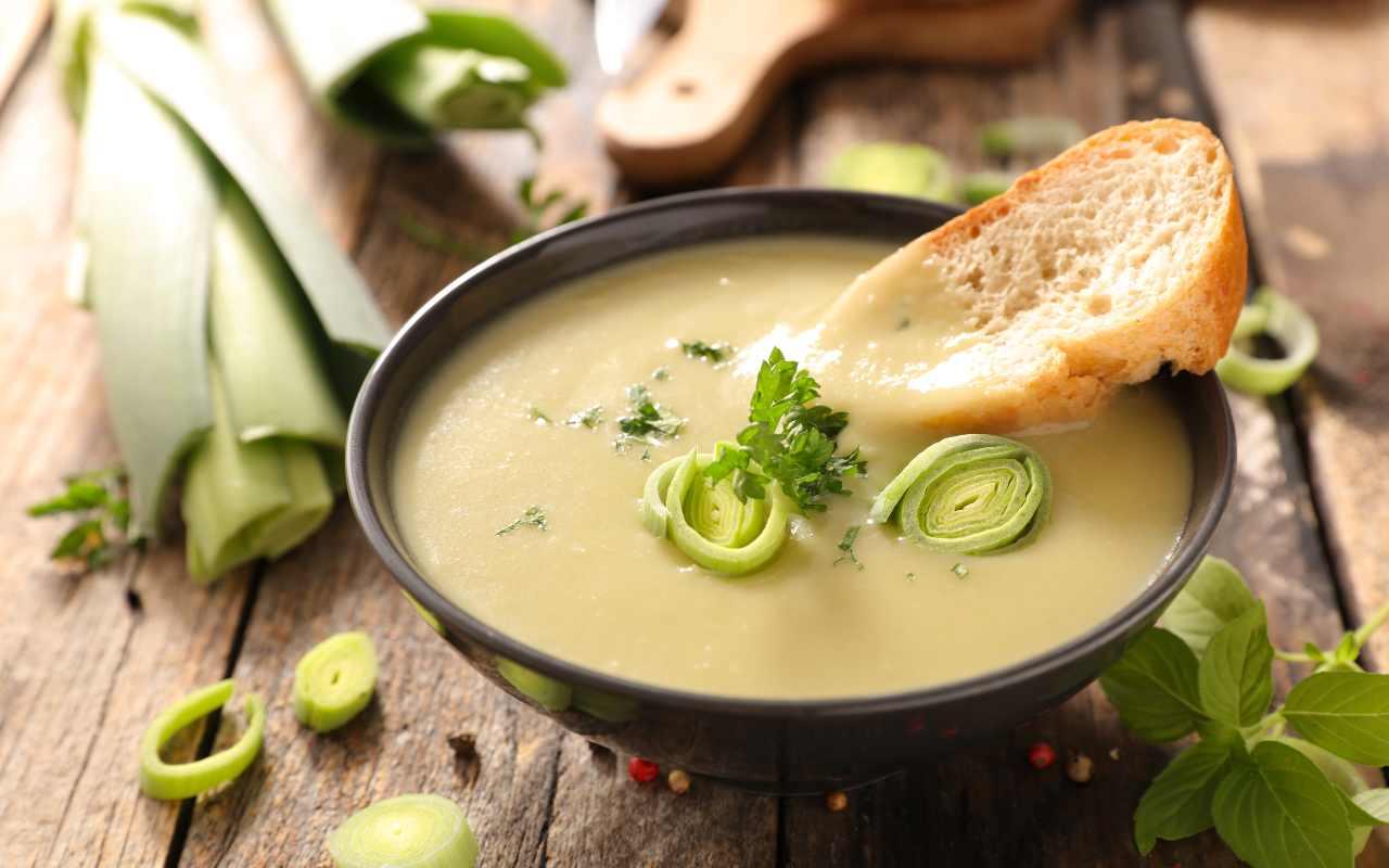 zuppa porro ricetta FOTO ricettasprint