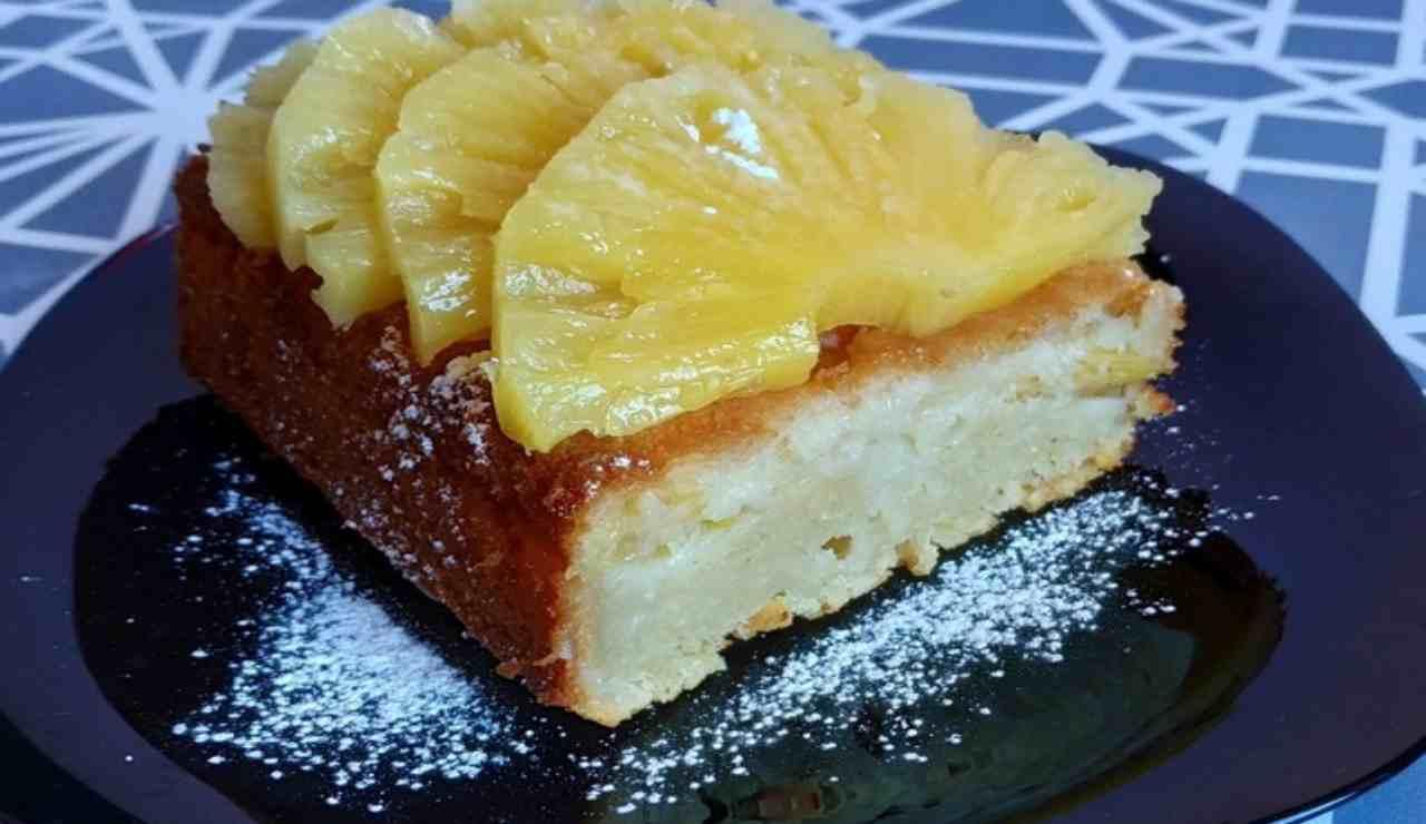 plumcake limone e ananas allo yogurt