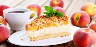Cheesecake mascarpone e pesche