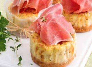 cheesecake prosciutto noci ricetta FOTO ricettasprint