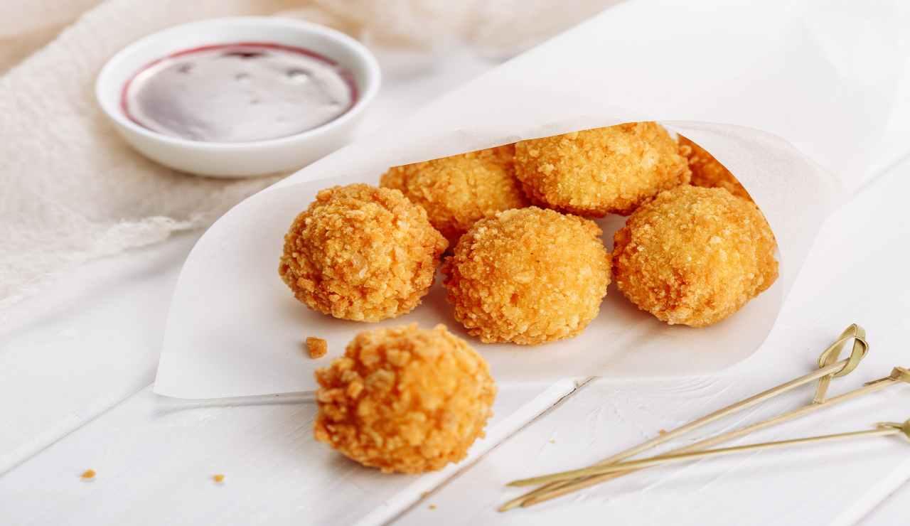 Crocchette di riso e mozzarella