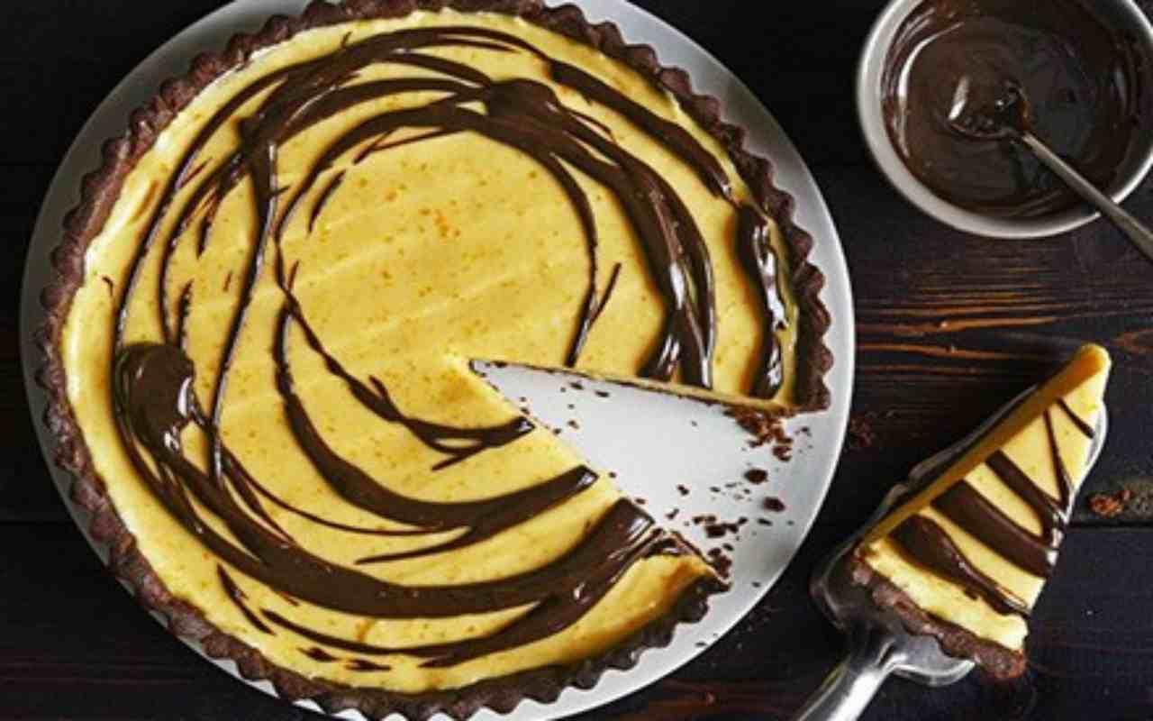 crostata cacao crema pasticcera ricetta FOTO ricettasprint