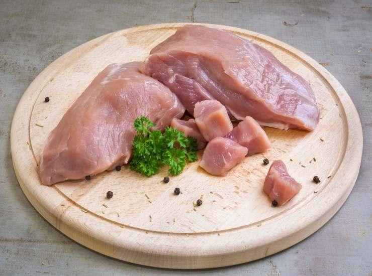 Filetto di maiale crudo