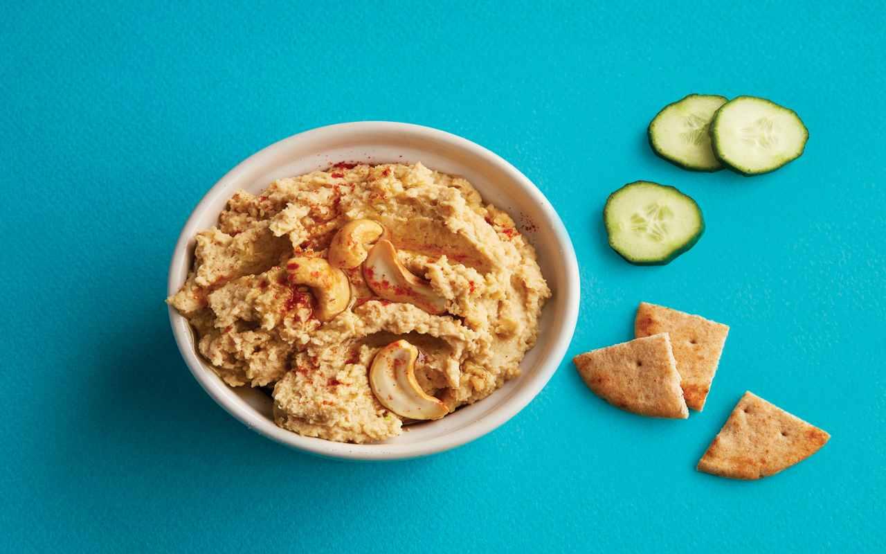 hummus anacardi ricetta FOTO ricettasprint