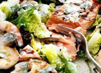 insalata yogurt salmone gamberetti FOTO ricttasprint