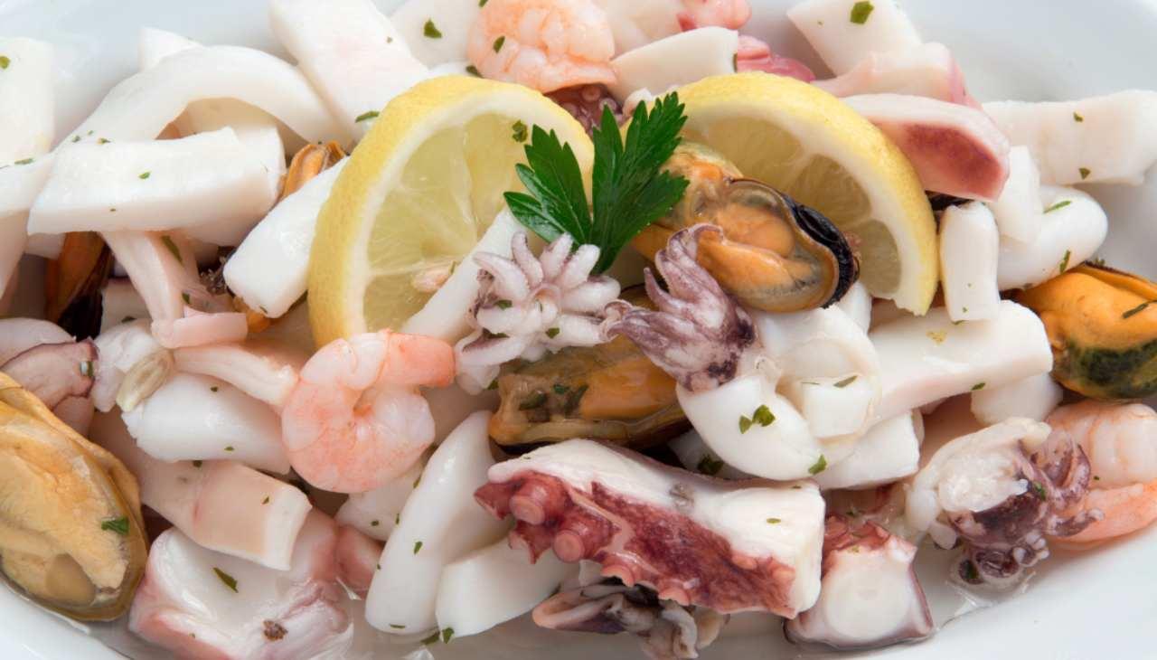 Finger food di molluschi e crostacei