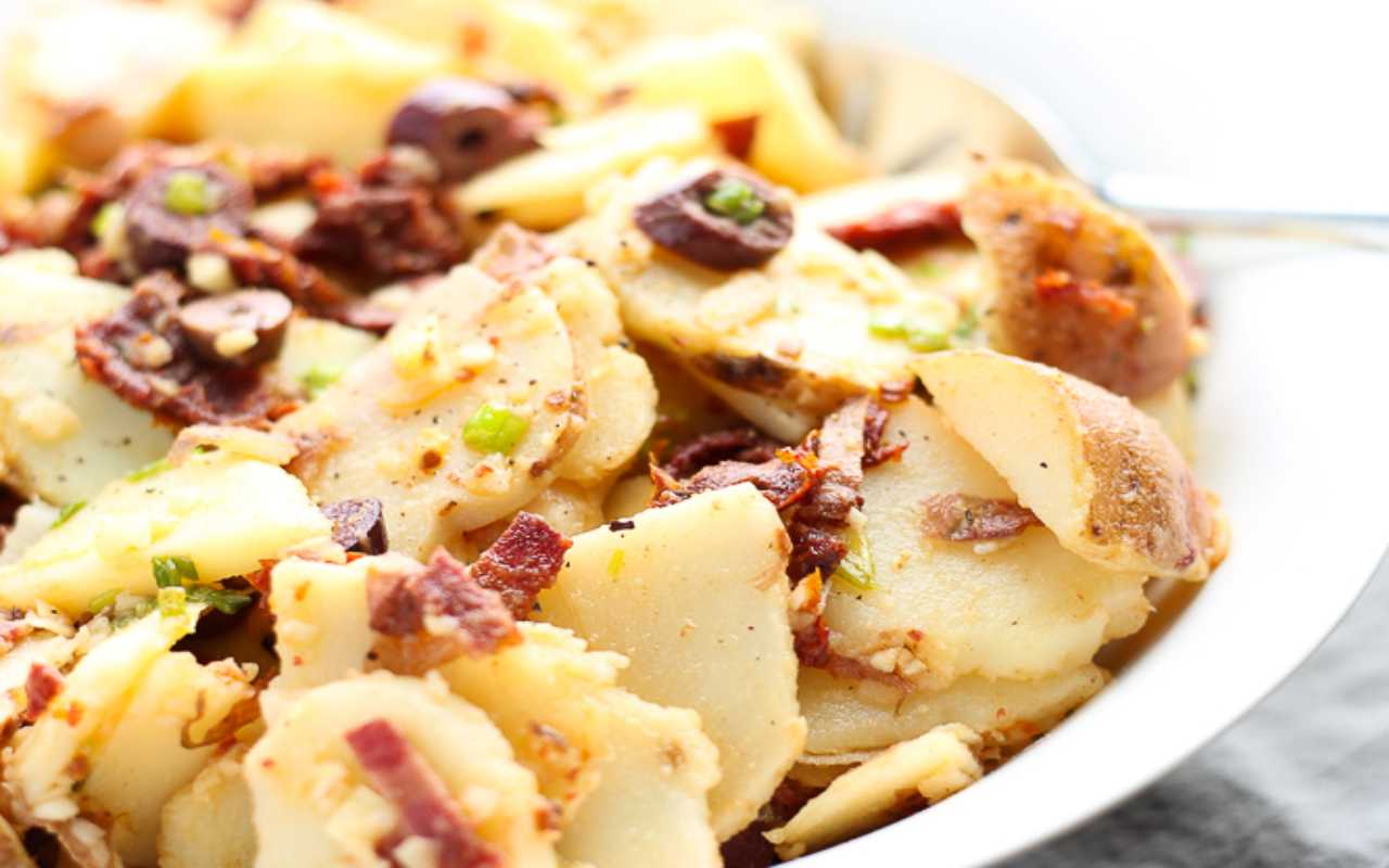 insalata merluzzo patate pomodori secchi ricetta FOTO ricettasprint