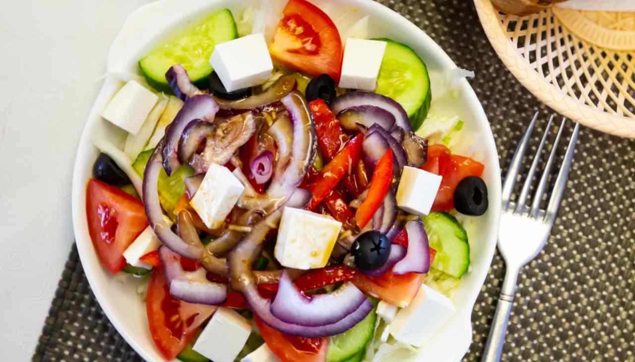 Piatto unico di verdura e formaggio