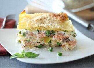 Lasagne estive di ricotta salmone e verdure miste