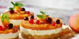 cheesecake con pesche