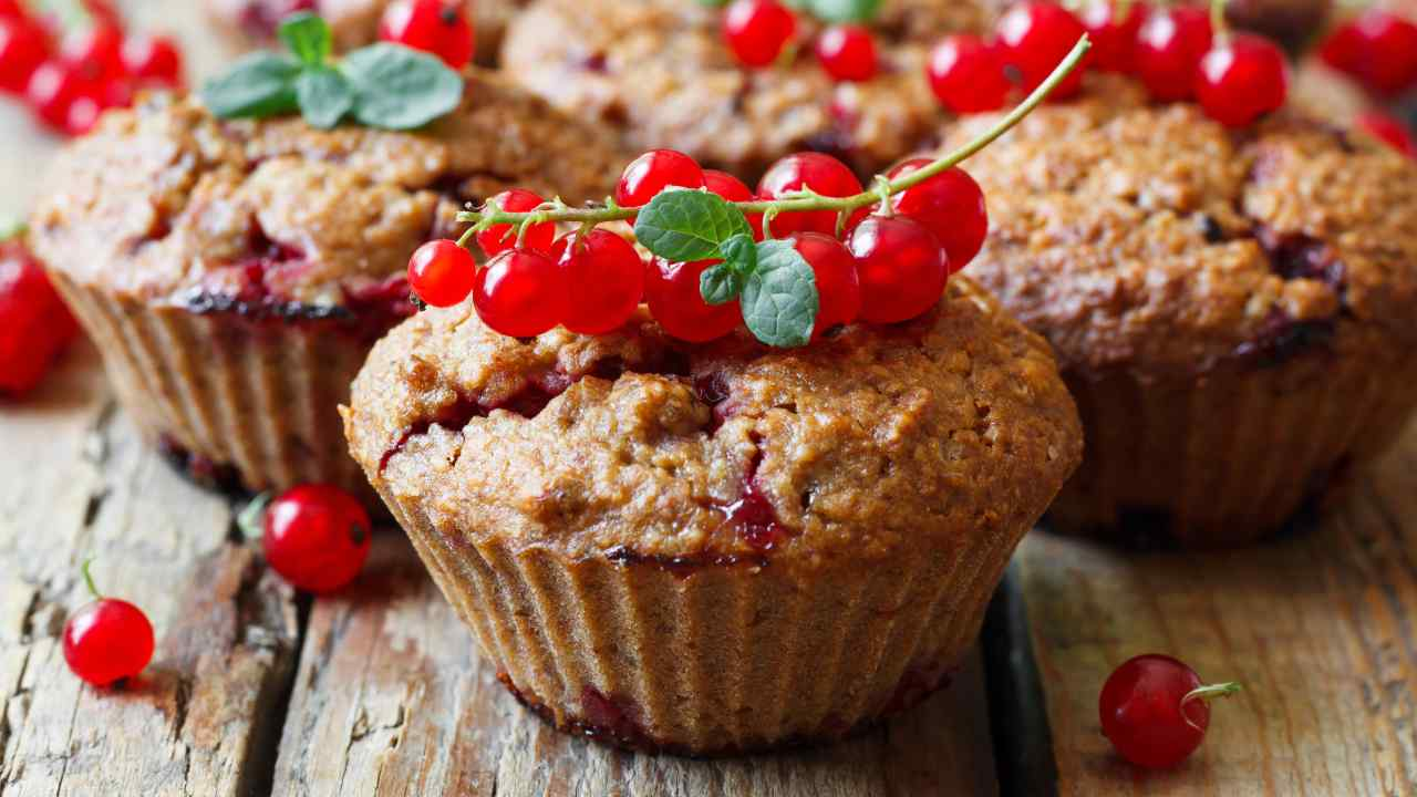 Muffin con ribes