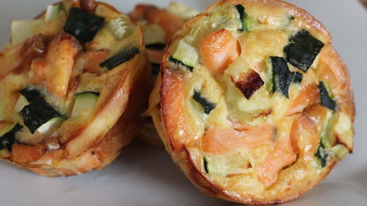 Tortini con salmone e verdure