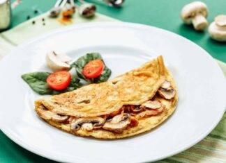 omelette pomodori funghi ricetta FOTO ricettasprint