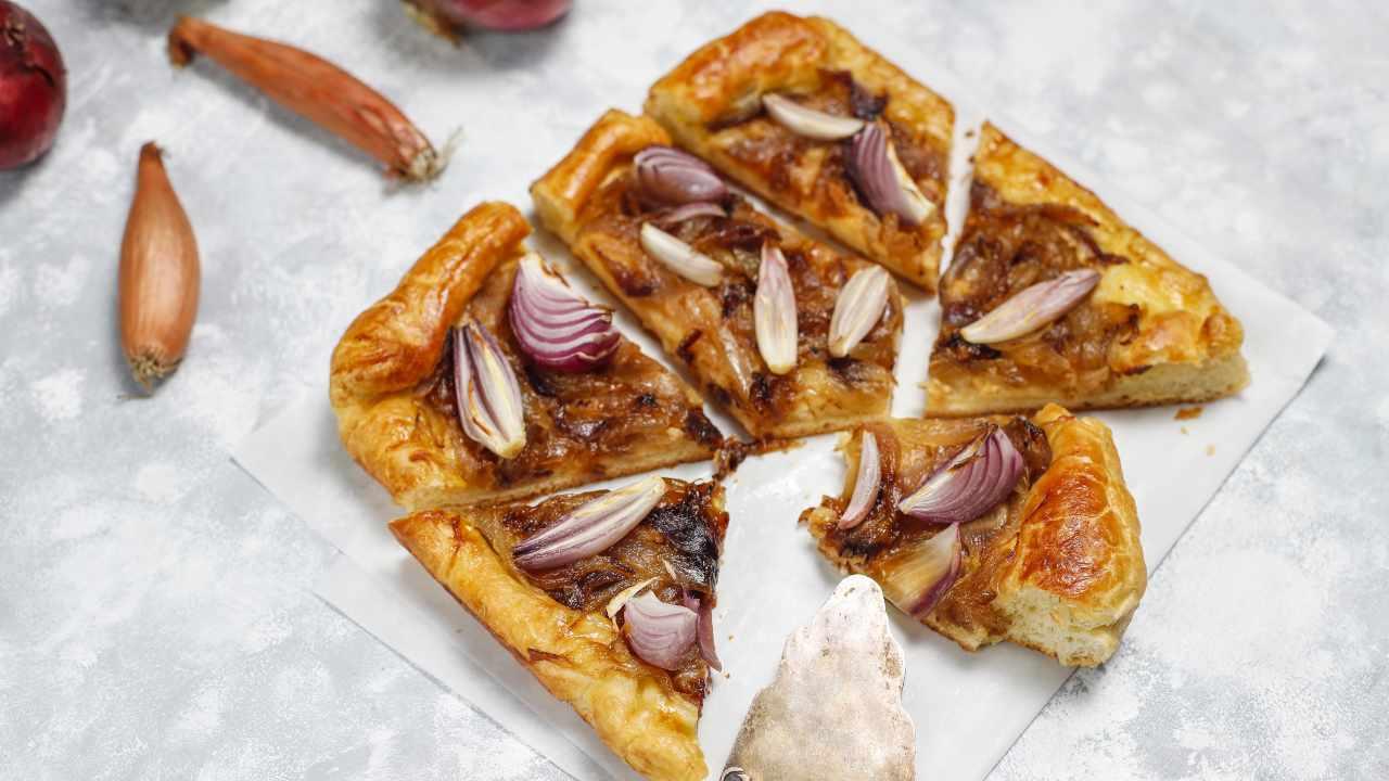 Pizza con cipolla