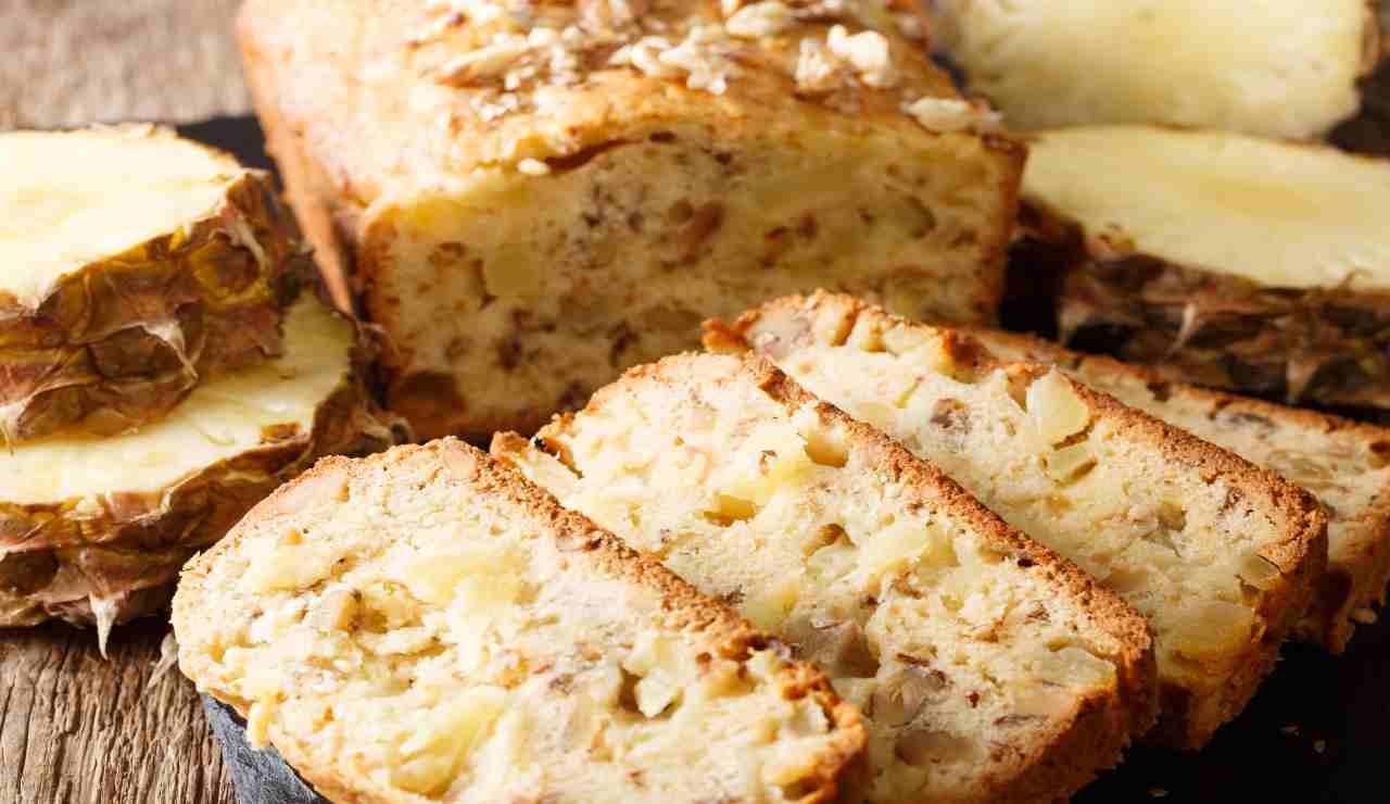 Plumcake all'olio di Ananas e cocco