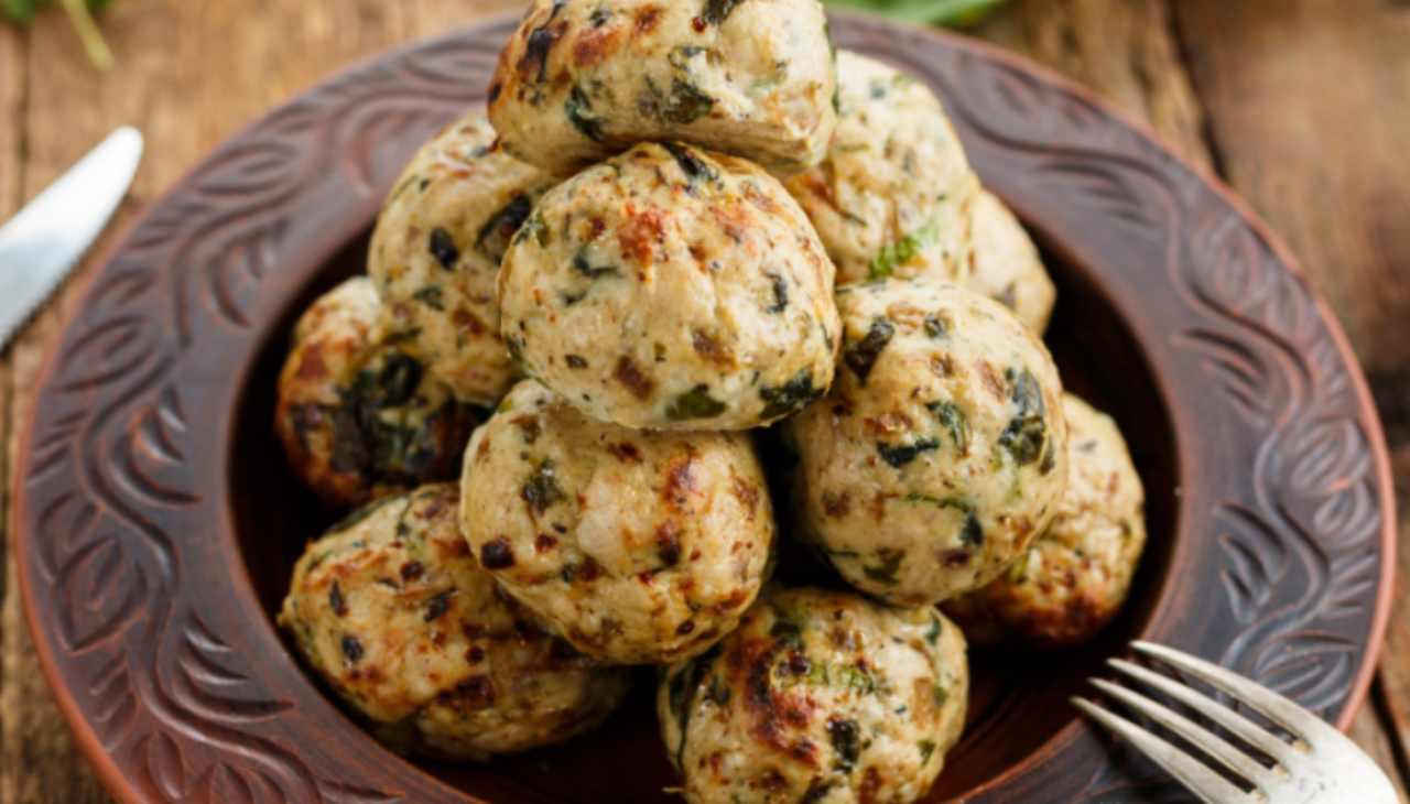 Palline di verdura, formaggio e pan grattato
