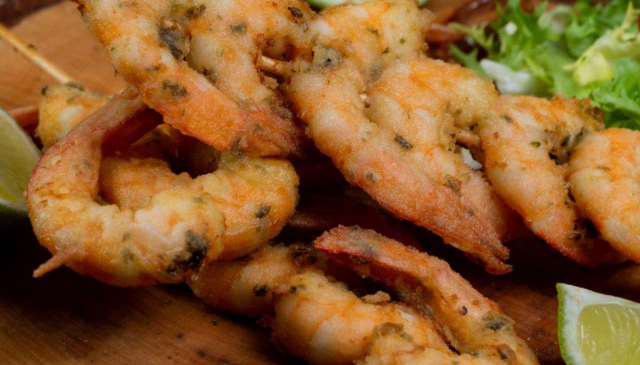 Crostacei cotti in forno con pangrattato e spezie