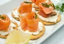Finger food salmone e ricotta