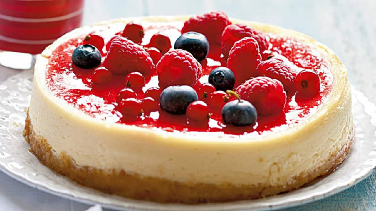 cheesecake yogurt e frutti frutti