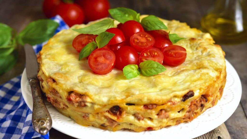 lasagna fredda con pomodori
