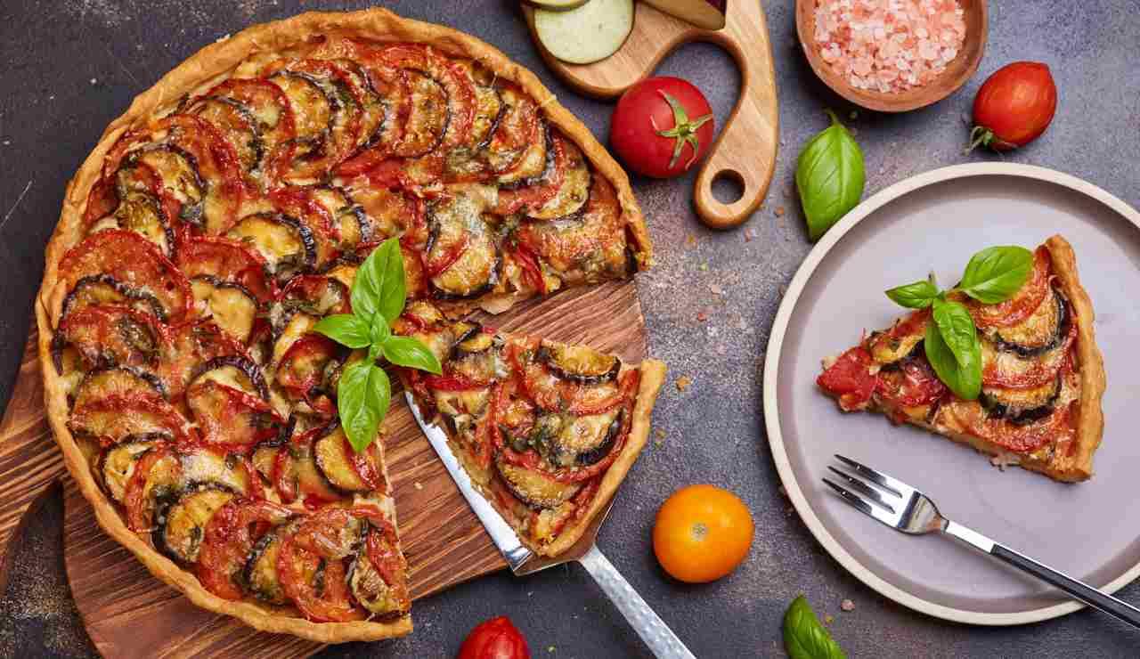 Torta salata facile con melanzane alla siciliana ricettasprint