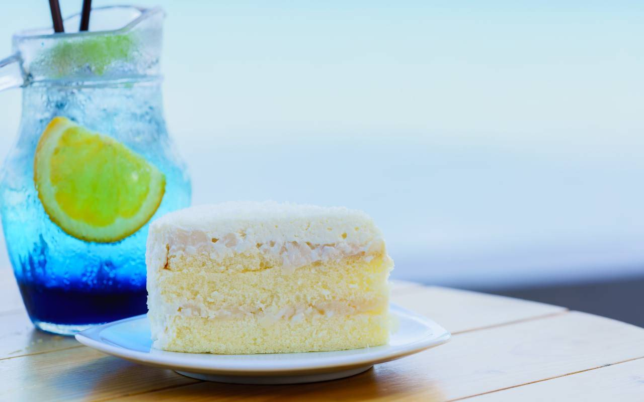 torta limone latte cocco ricetta FOTO ricettasprint