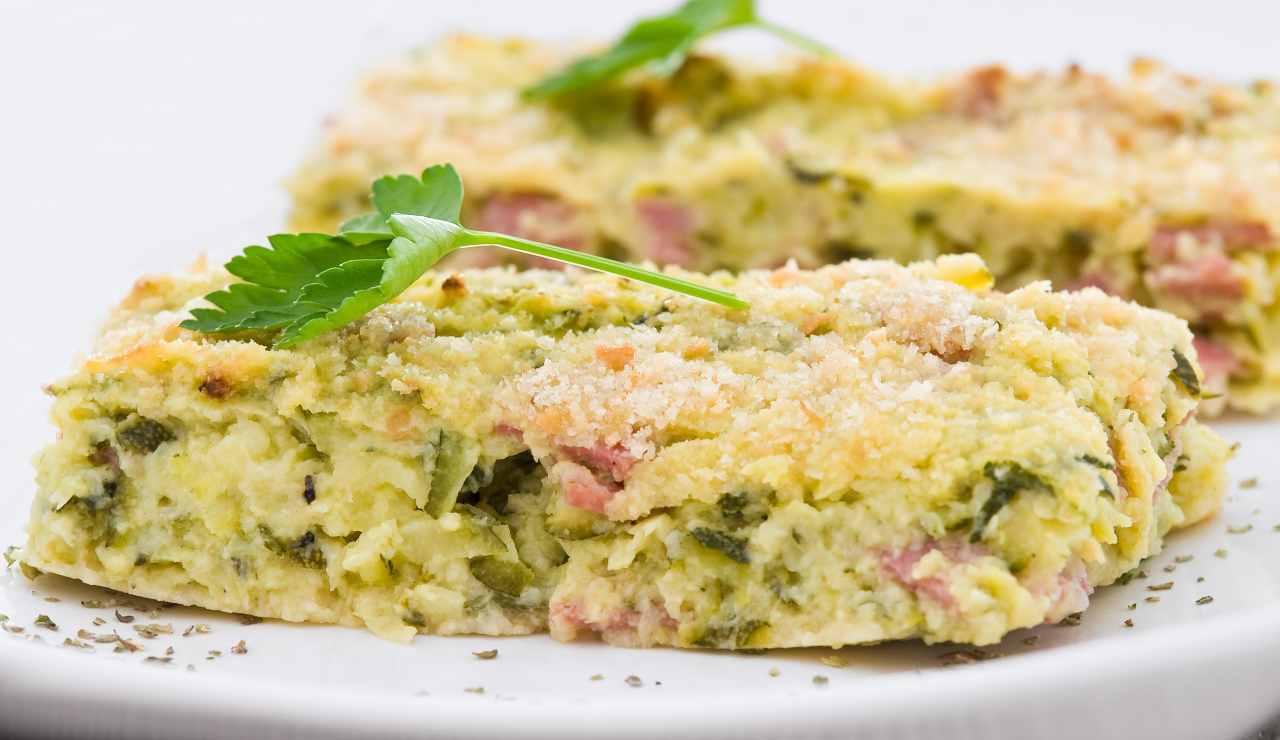 gateau cremoso di zucchine e prosciutto ricettasprint