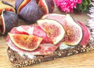 bruschetta fichi pancetta ricetta FOTO ricettasprint
